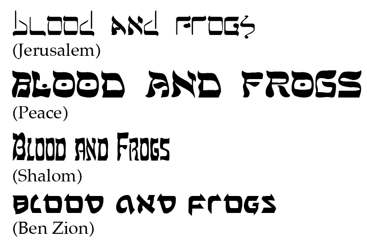 Finding Hebrew Fonts | B&F: Jewish Genealogy and More