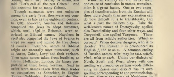 surnames   B&F: Jewish Genealogy and More