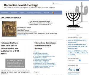 Romanian Jewish Heritage Project – Web Site | B&F: Jewish Genealogy