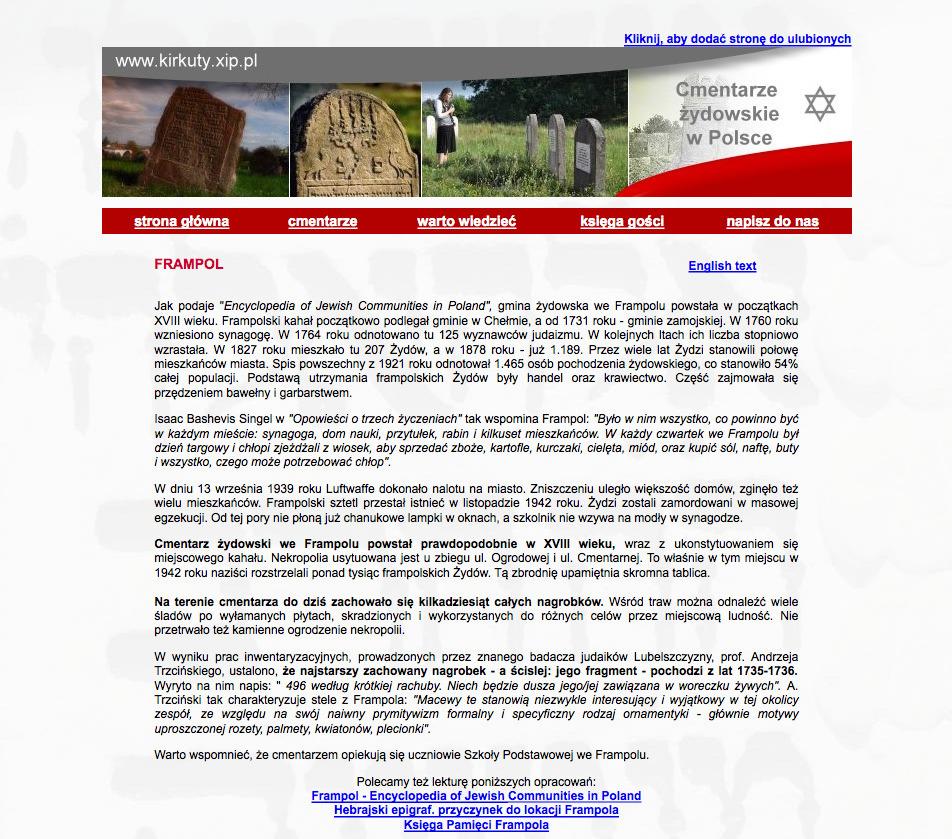Kirkuty Xip Pl Frampol B F Jewish Genealogy And More