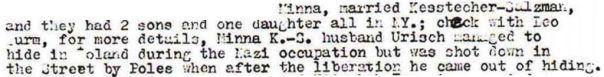 Excerpt from family letter
