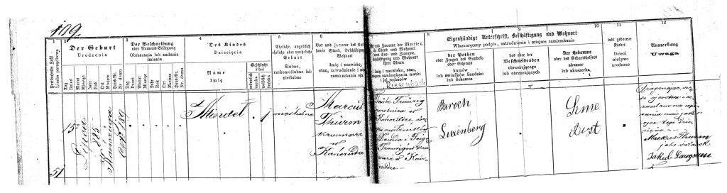 1995 birth record of Mindel Traurig
