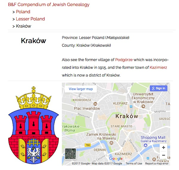 Note for Krakow