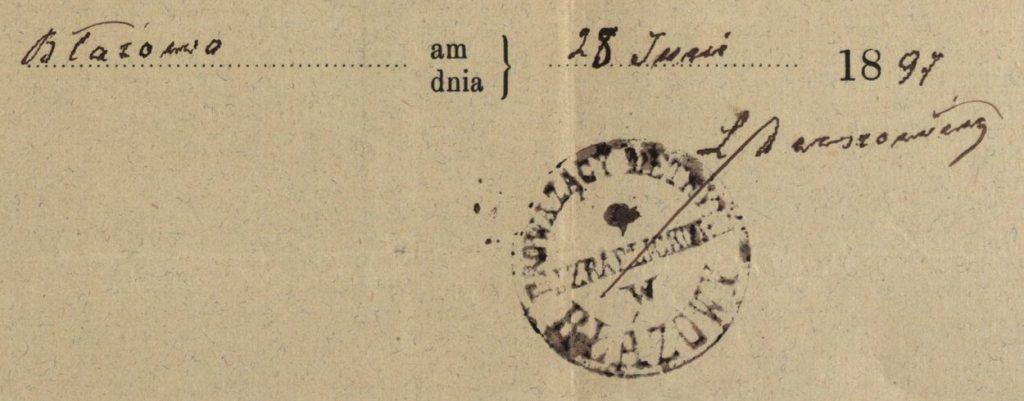Błażowa - 1897