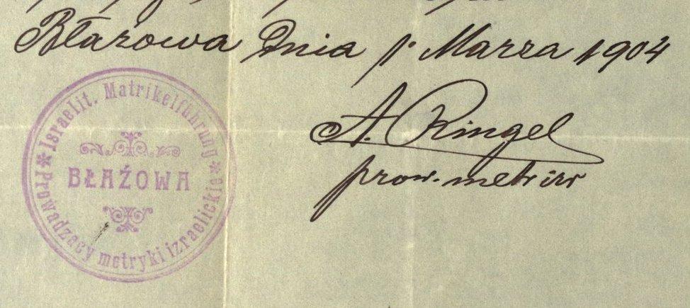 Błażowa - 1904
