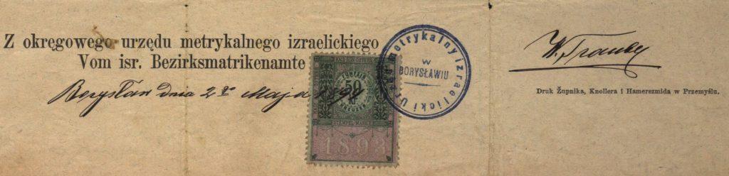 Borysław (now Boryslav, Ukraine) - 1898