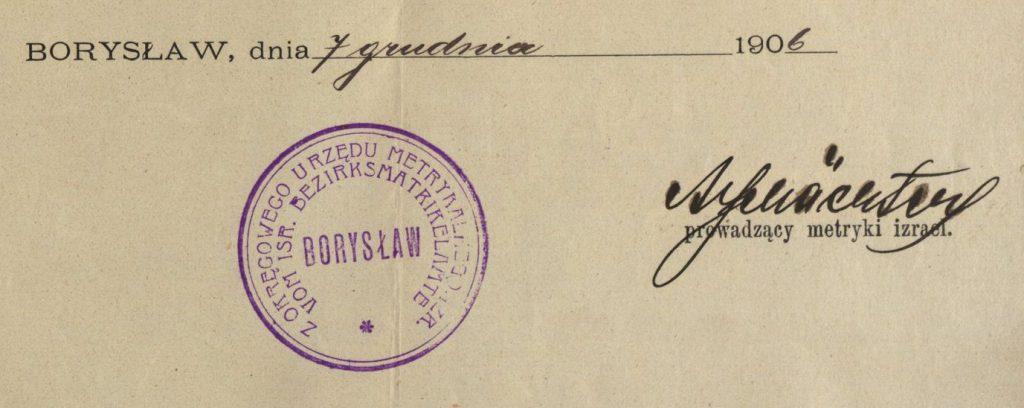 Borysław (now Boryslav, Ukraine) - 1906