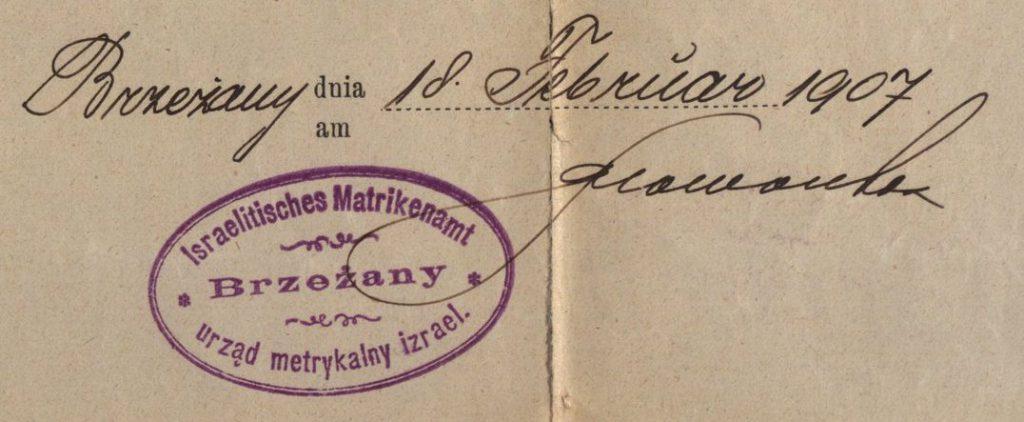 Brezany - 1907