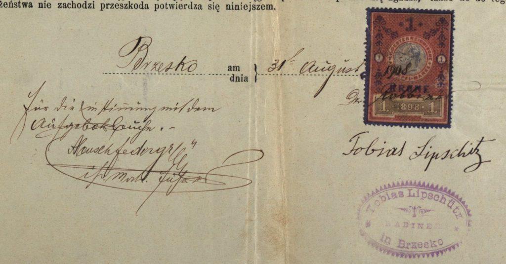 Brzesko - 1908 - Rabbi Tobias Lipshitz