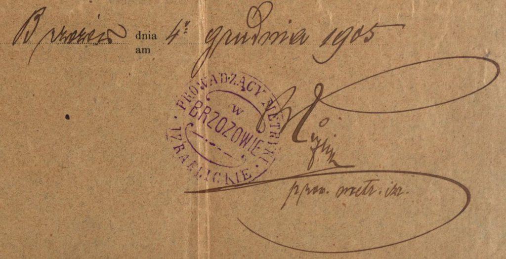 Brzozów - 1905