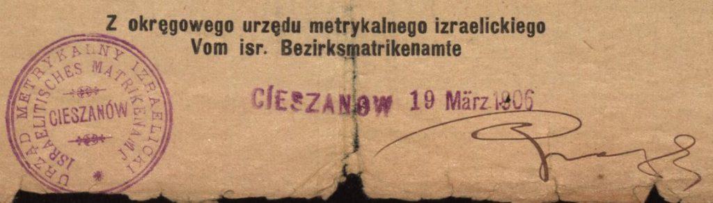 Cieszanów - 1906
