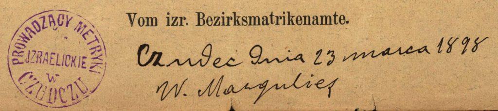 Czudec - 1898
