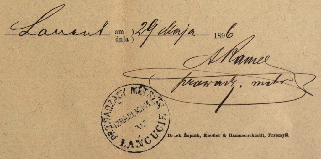 Łańcut - 1896