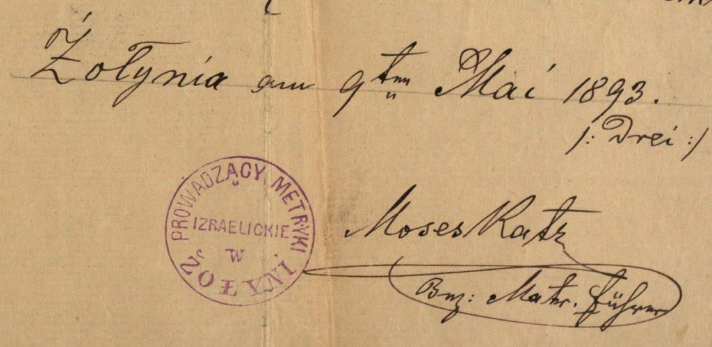 Żołynia - 1893