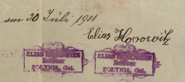 Żołynia - 1901 - Rabbi Elias Horowitz