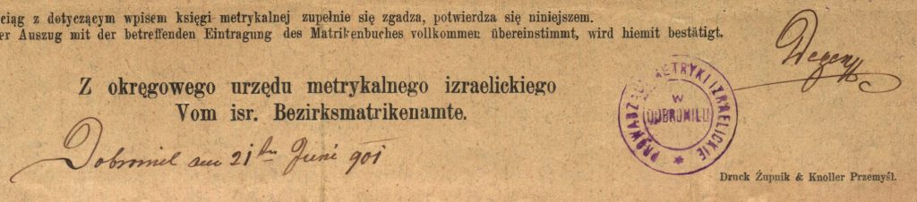 Dobromil (now Dobromyl, Ukraine) - 1901