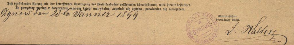 Dynów - 1899