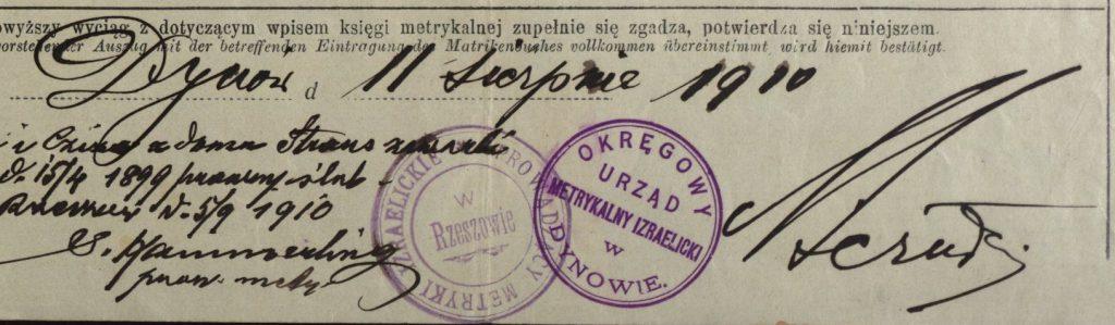 Dynów - 1910