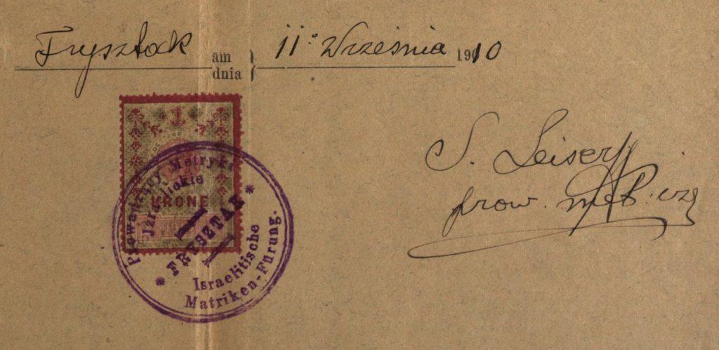Frysztak - 1910