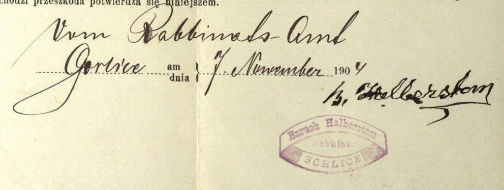 Gorlice - 1904 - Rabbi Baruch Halberstam
