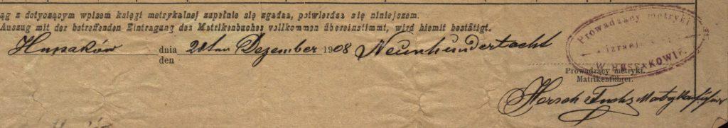 Hussaków (now Husakiv, Ukraine) - 1908