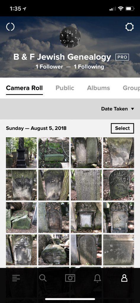 Flickr App Profile Page