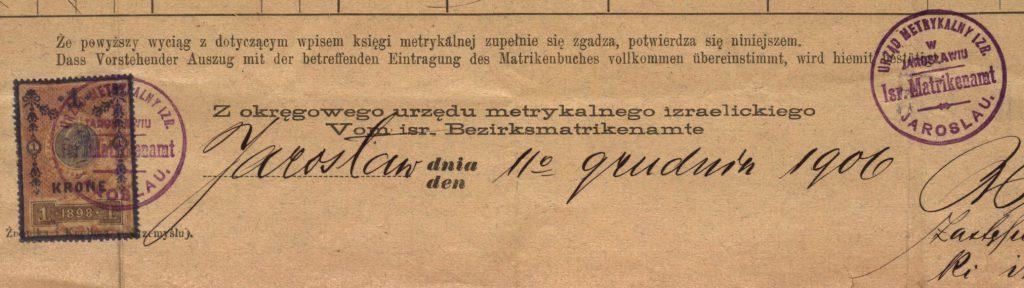 Jarosław - 1906