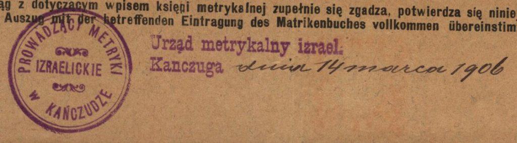 Kańczuga - 1906