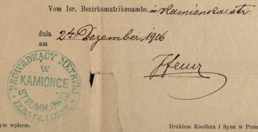 Kamionce (now Kamianka-Buzka, Ukraine) - 1906