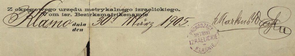 Klasno - 1905
