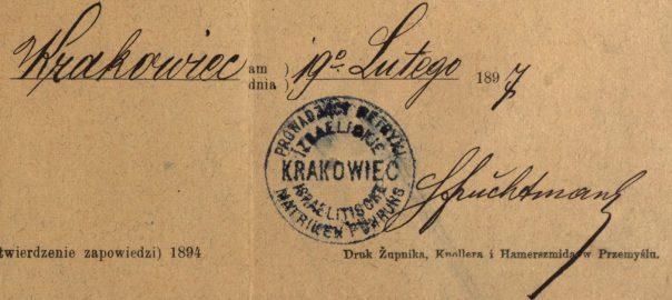 Krakowiec (now Krakovets, Ukraine) - 1897