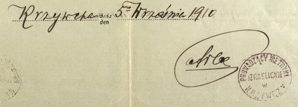 Krzywcza - 1910