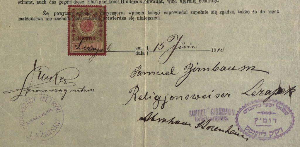 Leżajsk - Samuel Birnbaum - 1910
