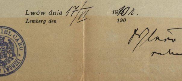 Lemberg/Lwow (now Lviv, Ukraine) - 1910 - Rabbi Dr. Jecheskiel Caro