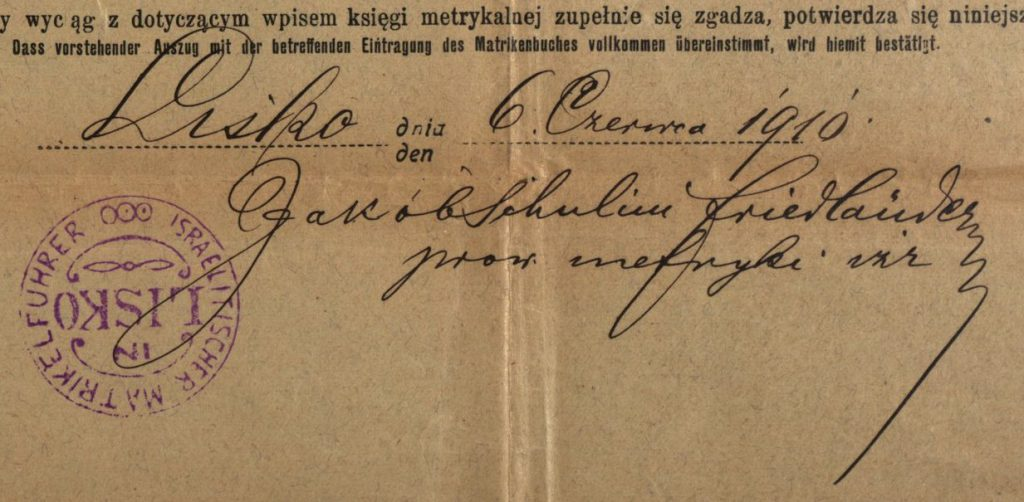 Lisko (now Lisok, Ukraine) - 1910