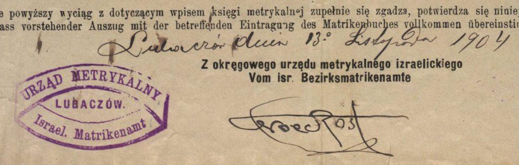 Lubaczów - 1904