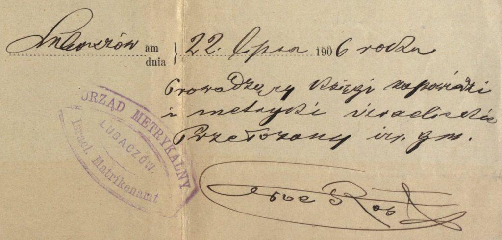 Lubaczów - 1906