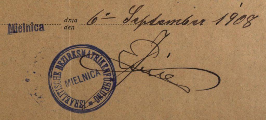 Mielnica (now Melnytsia-Podilska, Ukraine) - 1908