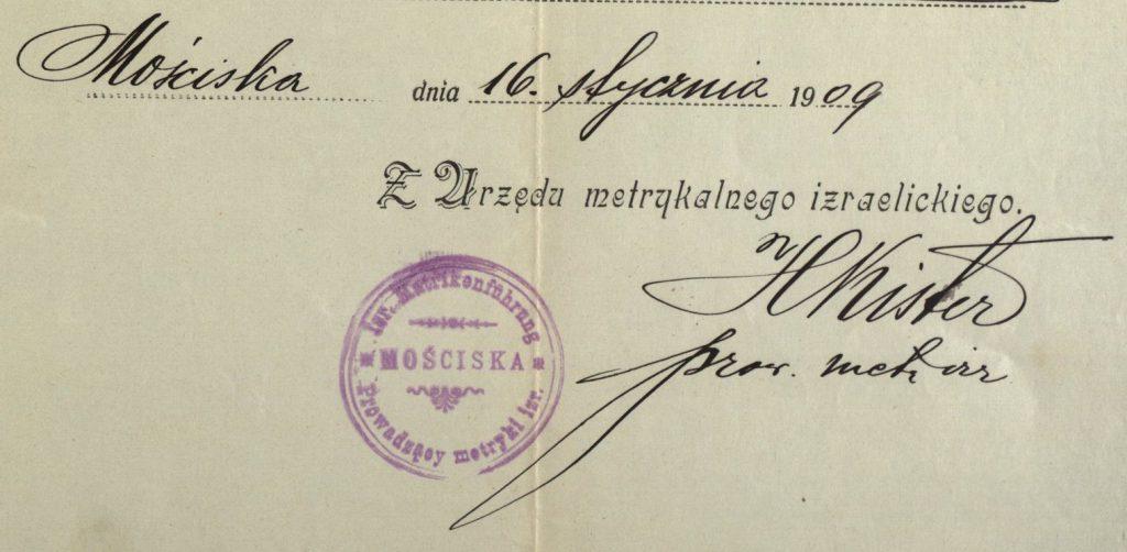 Mosciska (now Mostyska, Ukraine) - 1909