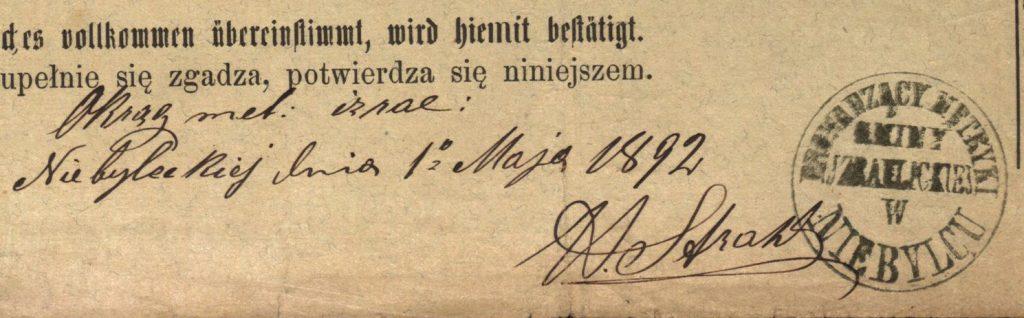 Niebylec - 1892