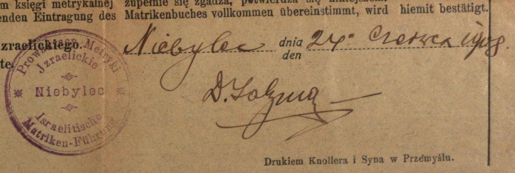 Niebylec - 1908