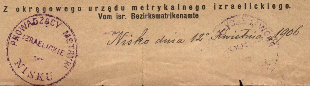 Nisko - 1906