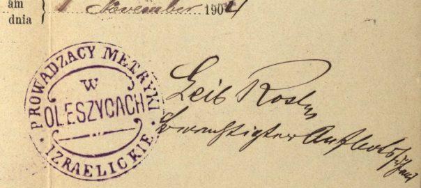 Oleszyce - 1904