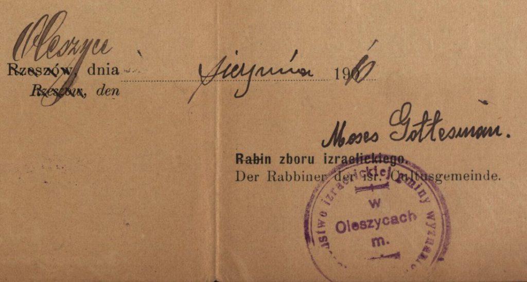 Oleszyce - 1910