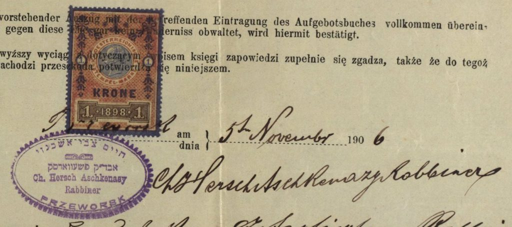 Preworsk - 1906 - Rabbi Hersch Aschkenasy
