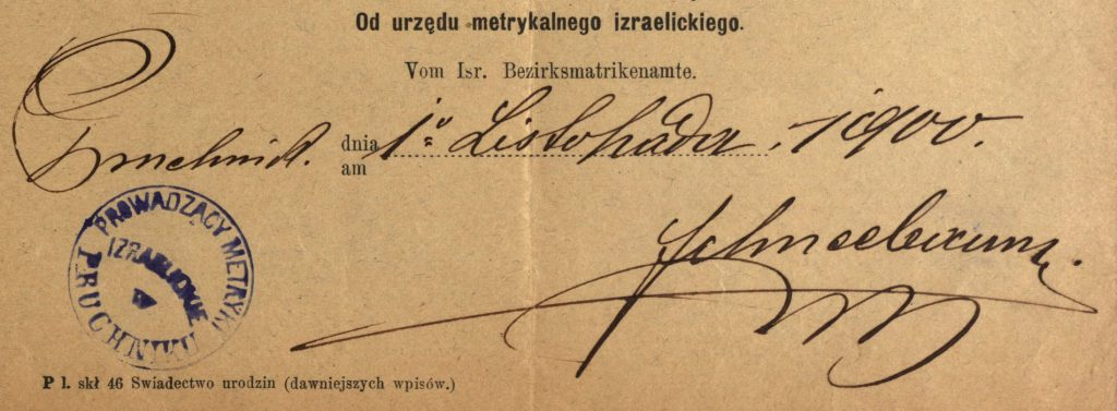 Pruchnik - 1900