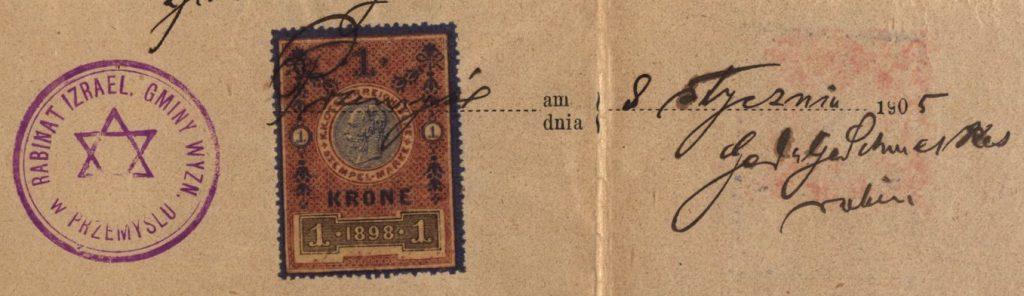 Przemyśl - 1905 - Rabbinate
