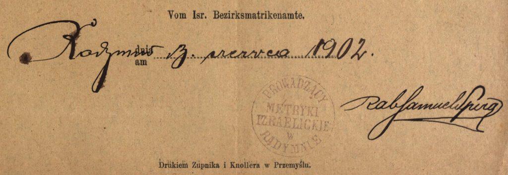 Radymno - 1902