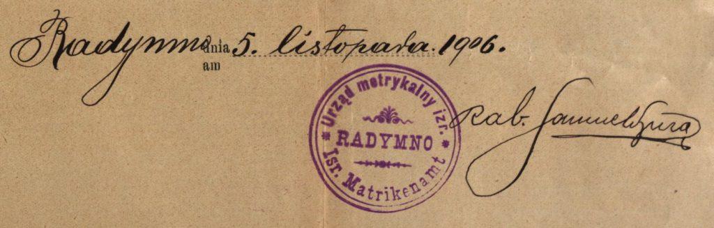 Radymno - 1906