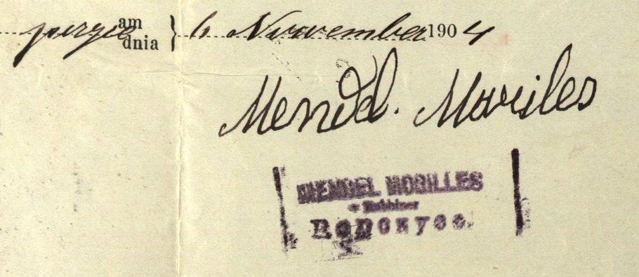 Ropczyce - 1904 - Rabbi Mendel Moriles